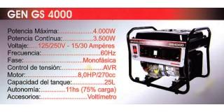 Generador GEN GS 4000 Briggs & Stratton
