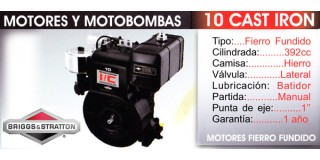 Motor Fierro Fundido 10 CAST IRON Briggs Stratton