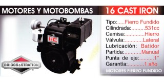 Motor Fierro Fundido 16 CAST IRON Briggs Stratton
