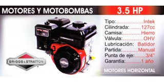 Motor horizontal 3.5 HP Briggs Stratton